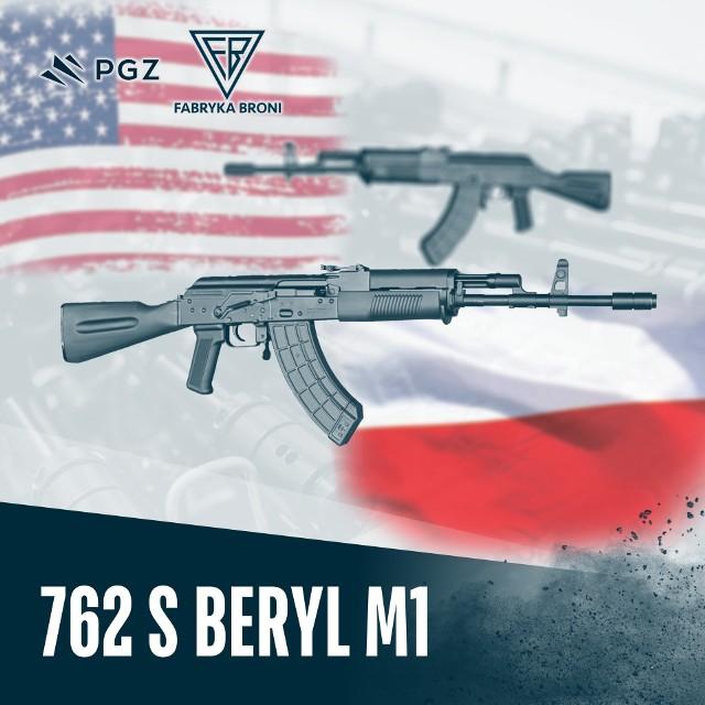 Karabinek BERYL S 762 M1 o kalibrze 7.62x39 mm hitem w Stanach Zjednoczonych. To drugi produkt na rynek USA po jednostce Mini Beryl Pistol