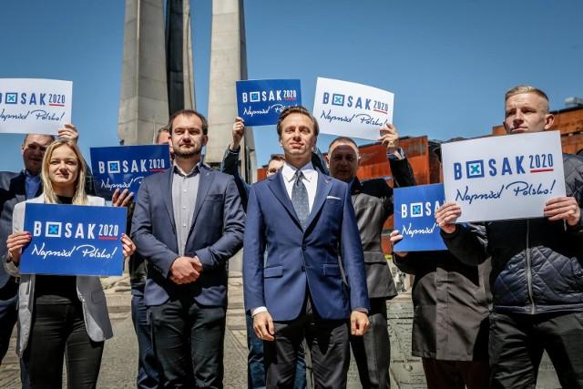 Krzysztof Bosak podczas wizyty w Gdańsku w piątek 29.05.2020