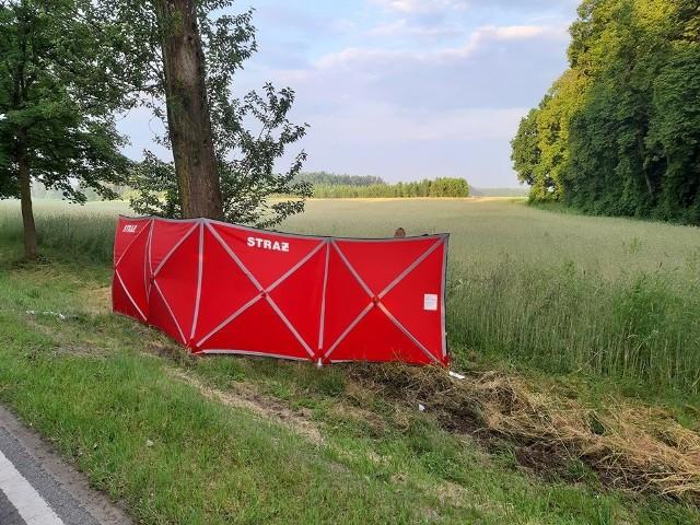 Wypadek na trasie Miastko - Słupsk 28.06.2020