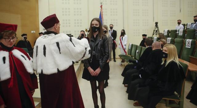 Uroczysta inauguracja nowego roku akademickiego WSPiA w Rzeszowie.