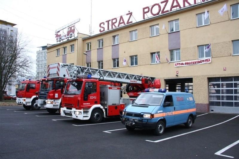 Syreny zawyły również w JR-G 2 w Opolu przy. ul. Budowlanych.