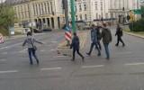Poznań: Kaczka i jej małe miały profesjonalną obstawę. Przeszły bezpiecznie przez ruchliwe skrzyżowanie [WIDEO]