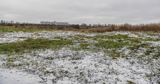 Tereny po nieistniejącym jeziorze Zaspa w Gdańskiej Letnicy