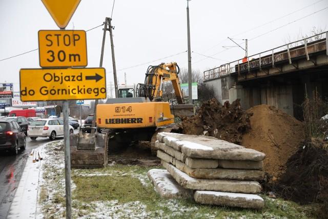 10.12.2020 krakow,prace remontowe przy al. 29 listopada i ul. siewna,wiadukt, nz fot. andrzej banas / polska press