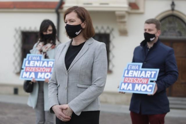 Ewa Leniart, kandydatka na prezydenta Rzeszowa, ogłosiła w poniedziałek swoje hasło wyborcze.