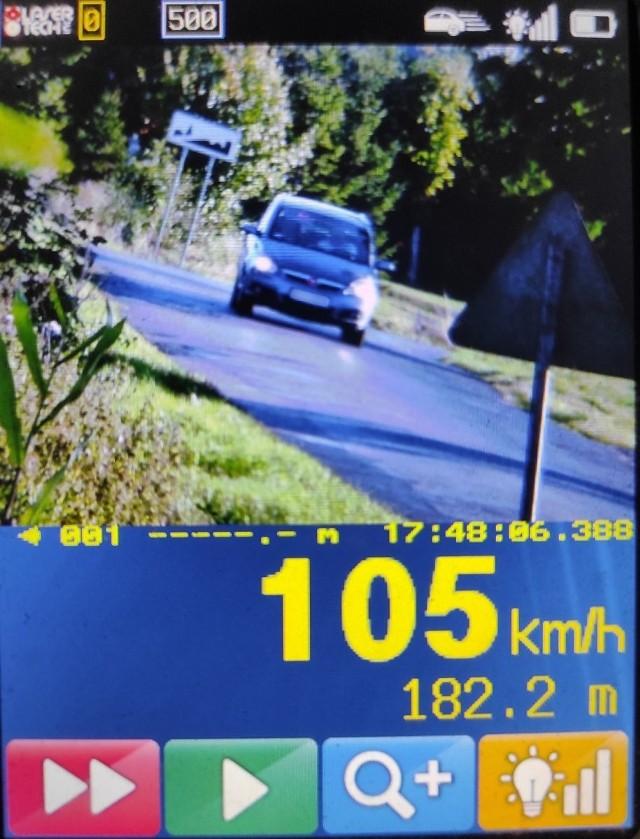 Dowód z laserowego miernika prędkości. 35-latek z gminy Cekcyn jechał za szybko