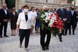 Kraków. Prezes PiS Jarosław Kaczyński z wizytą na Wawelu. Abp Marek Jędraszewski: To nasz obowiązek dziękować Bogu za braci Kaczyńskich