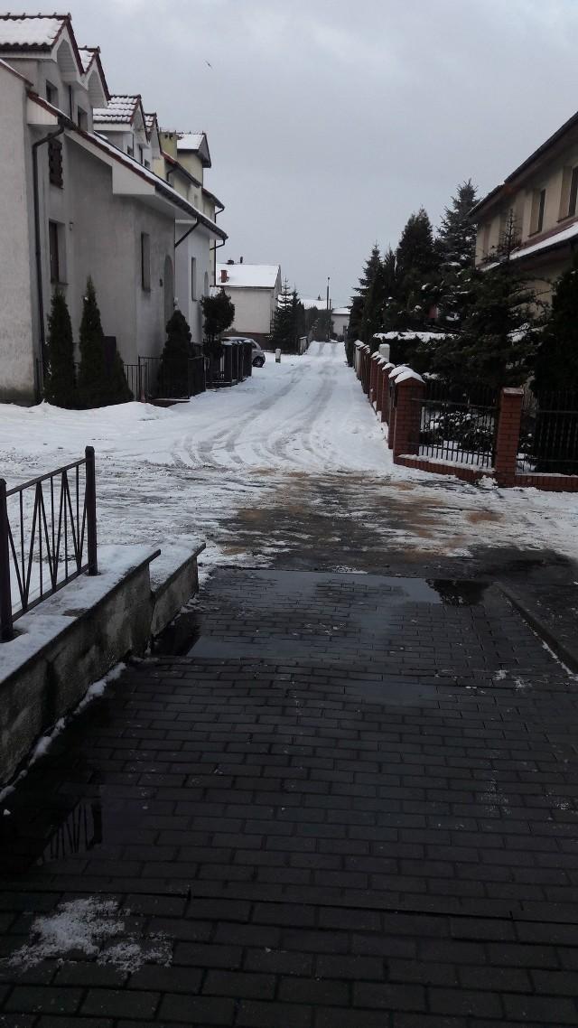 Fragment ulicy Kątnej w Inowrocławiu