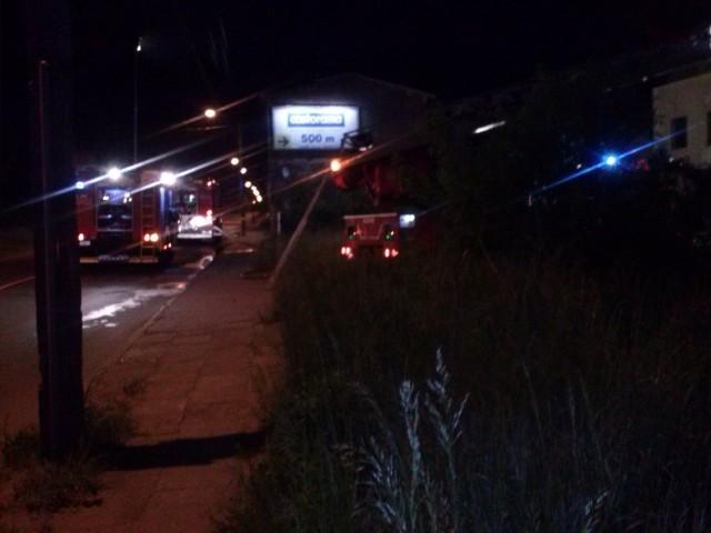Zdjęcie z wczorajszej akcji gaszenia pożaru przysłał internauta na adres alarm@gs24.pl