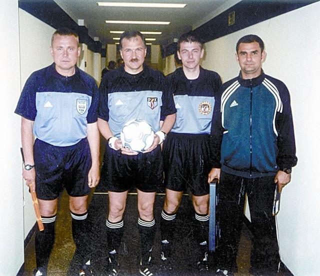 Elita opolskich sędziów (od lewej): Mirosław Kamiński, Ryszard Wójcik, Dariusz Wardak, Sławomir Berezowski.