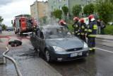 Pożar auta w Kartuzach [WIDEO, ZDJĘCIA]