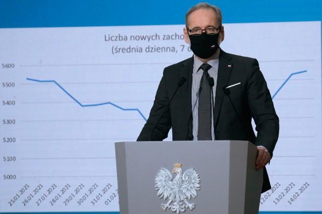 Minister Zdrowia Adam Niedzielski w rozmowie z Radiem Zet podał dane o wzroście liczby zakażonych koronawirusem.
