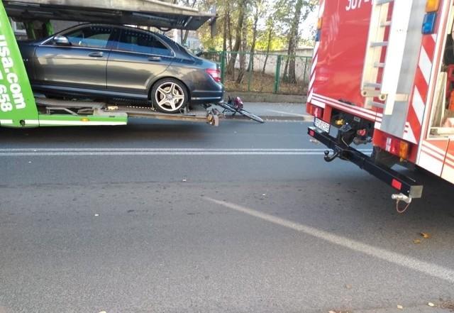 Do wypadku doszło na ul. Kościuszki w Tułowicach.