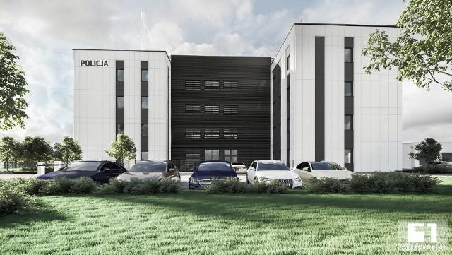 Nowy komisariat to duży obiekt, czterokondygnacyjny, jego powierzchnia użytkowa będzie wynosiła ok. 3000 metrów kwadratowych. Na działce powstanie też budynek garażowy o powierzchni około 800 metrów kwadratowych oraz parking na 60 miejsc.