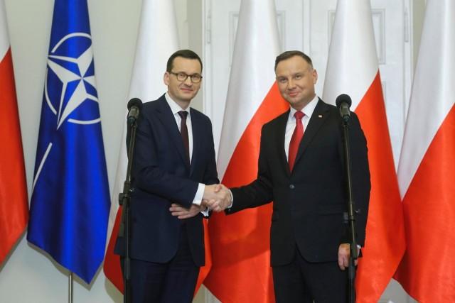 Premier Morawiecki z prezydentem Dudą