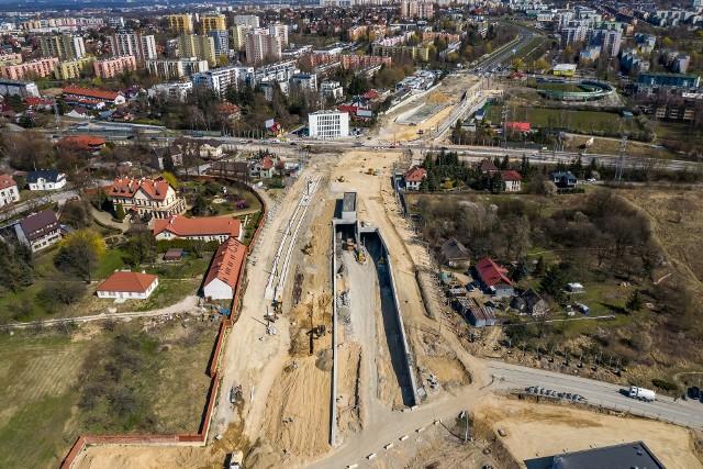 Budowa Trasy Łagiewnickiej trwa.