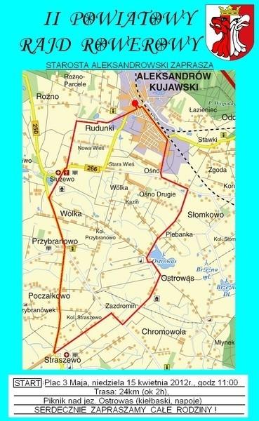 Trasa II Powiatowego Rajdu Rowerowego