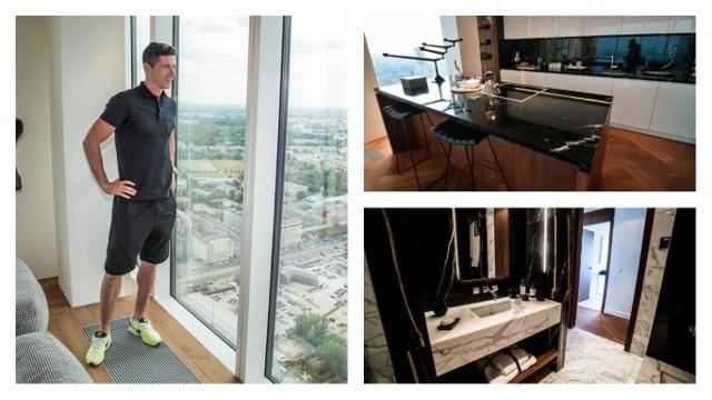 Robert Lewandowski zamieszkał w Złotej 44, prestiżowym apartamentowcu w centrum Warszawy. Zobacz, jak wygląda jego mieszkanie.Robert Lewandowski - jak przyznał - zdecydował się na zakup apartamentu ze względu na część rekreacyjną, czyli basen, siłownię, saunę i gabinet masażu, które znajdują się w budynku Złota 44. Apartamentowiec ma 192 metry i jest najwyższą wieżą mieszkalną tej klasy w Unii Europejskiej. na 52 piętrach znajduje się 287 mieszkań. Budynek zaprojektował Daniel Libeskind, światowej sławy architekt. Wnętrza zaaranżowała londyńska pracownia Woods Bagot.