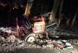 Bodzanowice. Pijany kierowca mazdy wjechał z impetem w tył ciągnika na DW 494. Rolnik odniósł obrażenia [ZDJĘCIA]