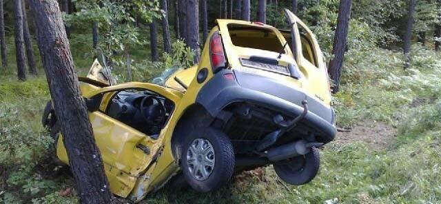 Renault najpierw wypadło z drogi, a później uderzyło w drzewo lewą stroną. Kierowca zginął na miejscu.