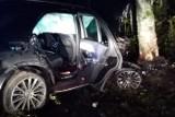 Groźny wypadek koło miejscowości Leszczyn. Trzy osoby ranne [ZDJĘCIA]