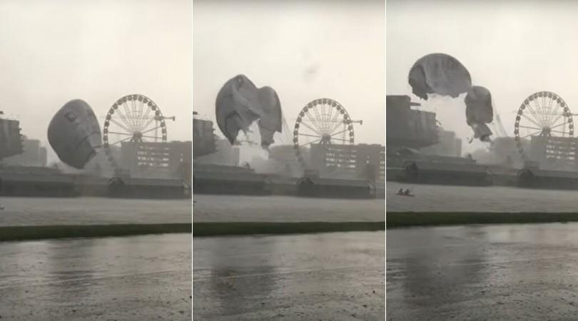 Kraków. Właściciel zniszczonego balonu widokowego: To było jak trąba powietrzna. Prognozy tego nie przewidziały. Straty to 3 mln zł