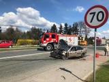 Rędziny. Wypadek na DK 91. W zderzeniu dwóch samochodów ciężko ranny został 85-latek