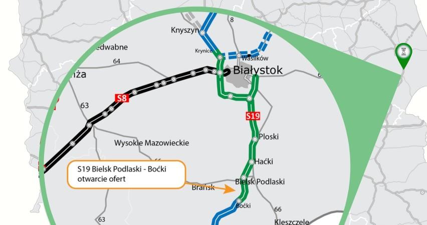 Odcinek Bielsk Podlaski – Boćki liczy 12,2 km. Do...