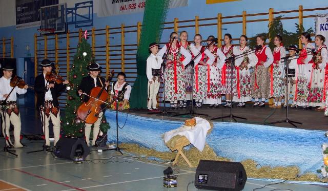 Zespół góralski Mali Holni z Sierockiego koło Białego Dunajca był gwiazdą Koncertu Kolęd i Pastorałek w Kazimierzy Wielkiej.