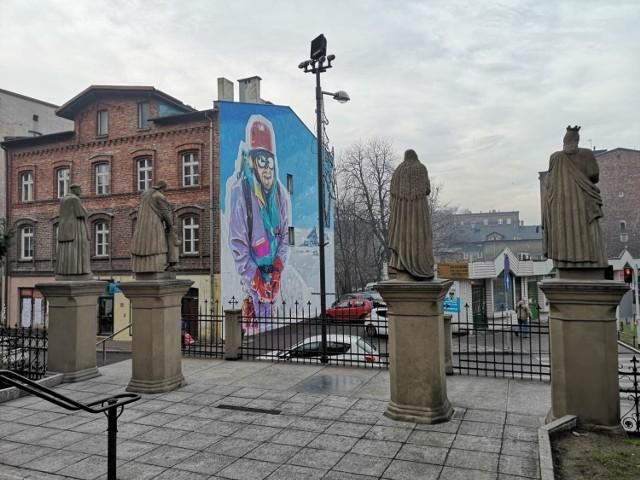 Mural Jerzego Kukuczki w Bogucicach. To tu ma powstać Centrum Himalaizmu