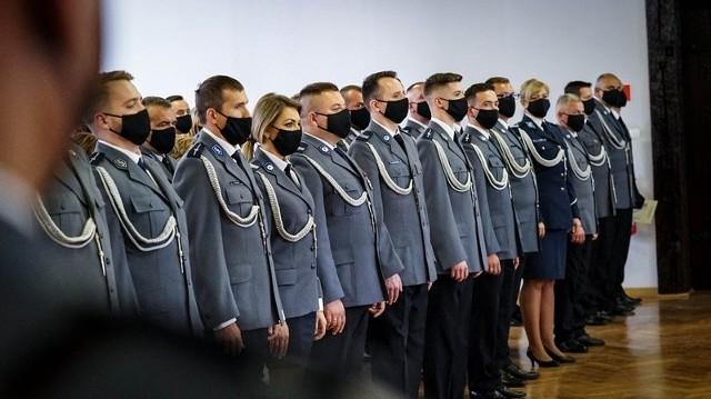 Ślubowanie policjantów w KWP w Gdańsku