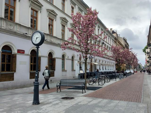 Zakaz parkowania na woonerfie w ul. 6 Sierpnia w Łodzi