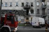 Groźny pożar przy Abramowskiego! Lokator trafił do szpitala. Mieszkańcy kamienicy uciekali z budynku [zdjęcia]
