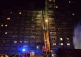 Pożar na ul. Piotrkowskiej. Spłonęło mieszkanie na 10. piętrze wieżowca. 4 osoby ranne [zdjęcia]