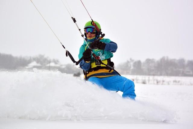 Snowkiting w Oleśnie!