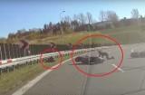 Groźny wypadek motocyklistów na S1 w Bielsku-Białej. Było blisko tragedii. Zobaczcie WIDEO