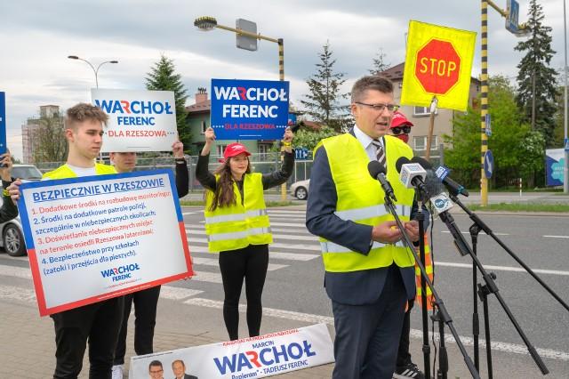 Marcin Warchoł twierdzi, że na sprawę bezpieczeństwa w Rzeszowie patrzy zarówno jako kandydat na prezydenta Rzeszowa oraz jako ojciec trójki dzieci.