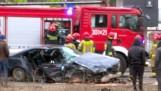 Wypadek na Towarowej w Białymstoku. Policjant nie ustąpił pierwszeństwa, dwie osoby zostały ranne (zdjęcia)