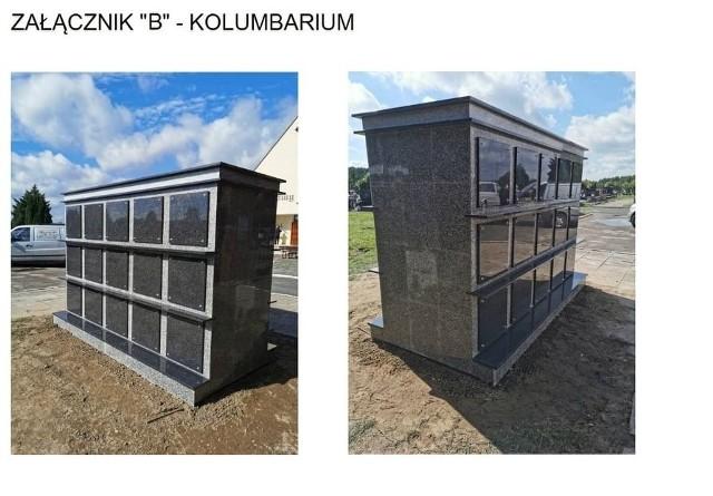 Tak będzie wyglądało gotowe kolumbarium, które powstaje na cmentarzu komunalnym w Sępólnie