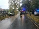 1,7 promila alkoholu miał 42-letni kierowca, który przy ul. Starorudzkiej uderzył autem w drzewo.