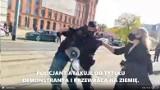Doniesienie do prokuratury i skarga na policjanta, który rzucił na ziemię demonstranta. Skarga dotyczy także brutalności straży miejskiej