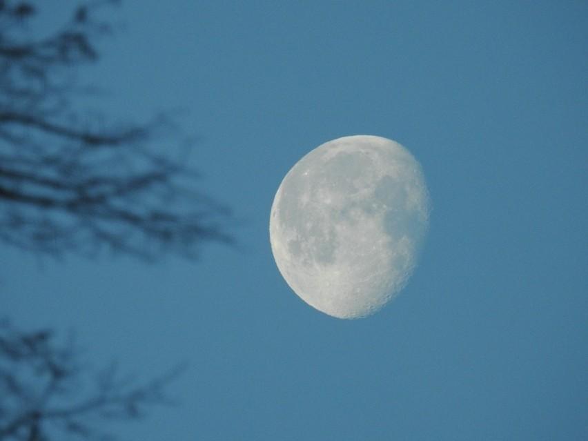 Tak wyglądał księżyc 5 stycznia 2018....
