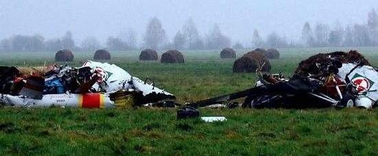 Śmigłowiec spadł na łąkę po stronie białoruskiej
