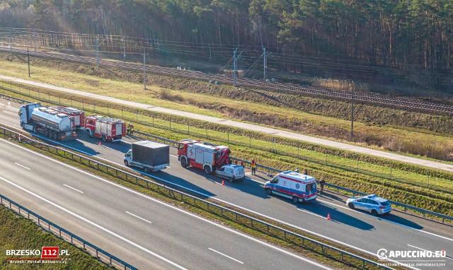 Do zdarzenia doszło na 485 kilometrze autostrady A4