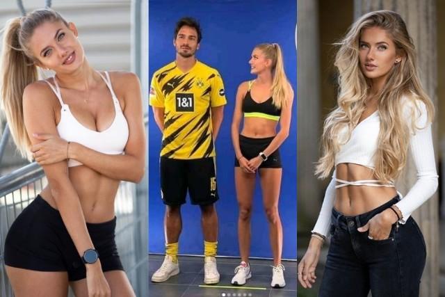 """Piłkarze Borussii Dortmund mieli ostatnio wyjątkowego gościa w centrum treningowym. To Alica Schmidt, biegaczka na krótkich dystansach. Przez część mediów okrzyknięta najseksowniejszą sportsmenką świata. Sesję zaproponował jej """"Playboy"""", ale niespełna 22-letnia Niemka odmówiła. Na szczęście regularnie publikuje zdjęcia na Instagramie. Tam pojawiły się zdjęcia ze wspólnych zajęć z m.in. Matsem Hummelsem. Nietypowe ćwiczenia to sprawka sponsora technicznego, który dostarcza odzież niemieckiemu klubowi i lekkoatletce."""