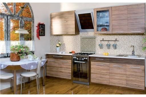 Zestaw kuchenny KimiSzerokość całkowita zestawu mebli kuchennych Kimi to 220 cm.