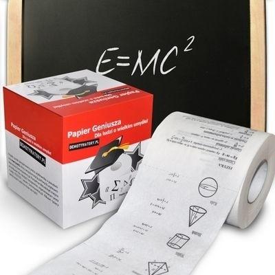Papier toaletowy GeniuszaPapier toaletowy umożliwia naukę matematyki, historii i innych dziedzin. podczas przebywania w toalecie