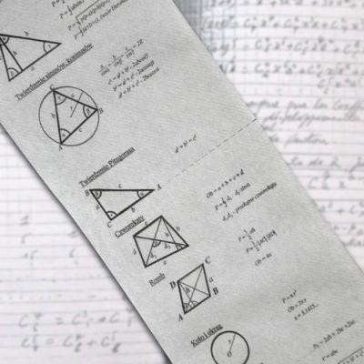 Wzory matematyczne nadrukowane na papier toaletowy Geniusza...