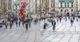 Pusty Gdańsk podczas pandemii. Porównaliśmy 2021 i 2020 rok. Kolejny lockdown znów widoczny na ulicach