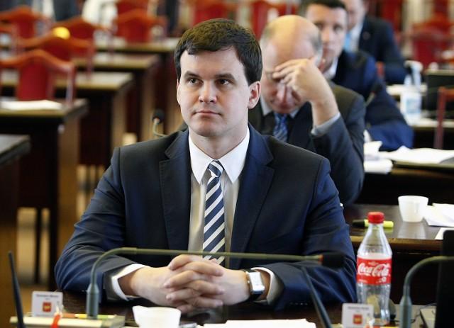 Radosław Marzec, przewodniczący komisji nagród i odznaczeń Rady Miejskiej w Łodzi